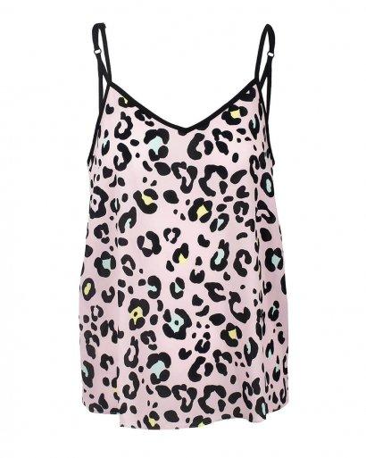 Top rosa leopardo