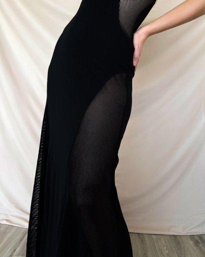 Vestido transparencias