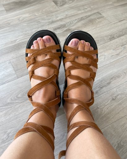 Sandálias cordões